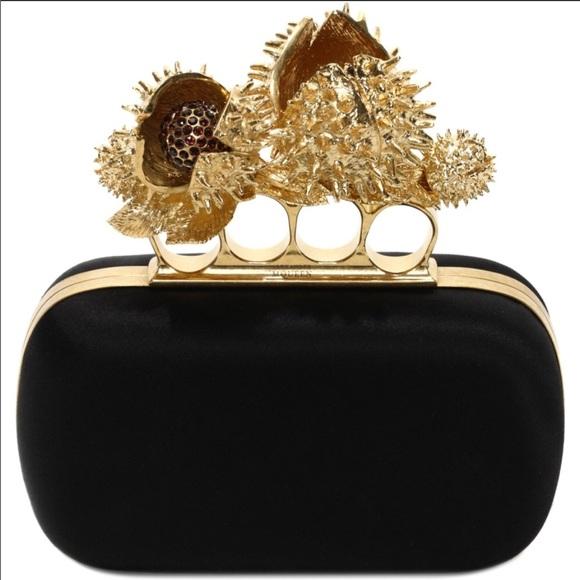 c9cc677e53930 Alexander McQueen Bags | Knuckle Box Chestnut Clutch | Poshmark